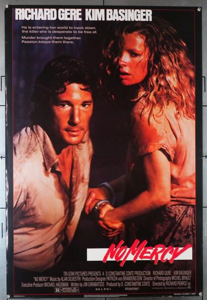 NO MERCY (1986) 552  Richard Gere   Kim Basinger  Movie Poster Original U.S. One-Sheet Poster (27x41)  Rolled  Very Fine
