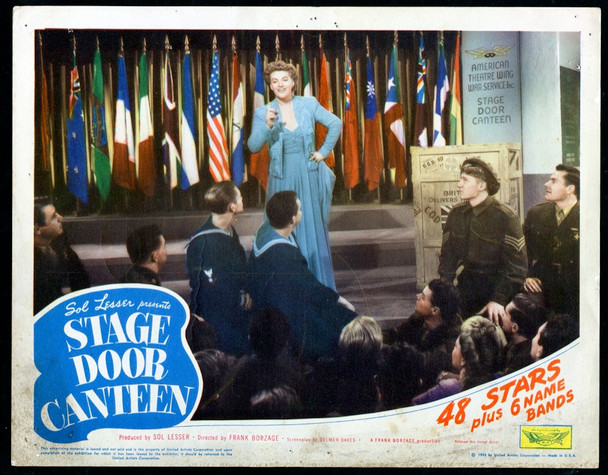 STAGE DOOR CANTEEN (1943) 29077   Gracie Fields Scene Lobby Card Original Scene Lobby Card (11x14)  Good Condition  AVERAGE USED