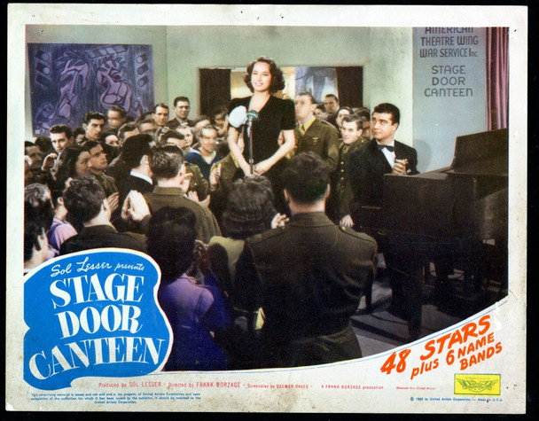 STAGE DOOR CANTEEN (1943) 29078 Original U.S. Scene Lobby Card (11x14)  Average Used Condition  Theater Used