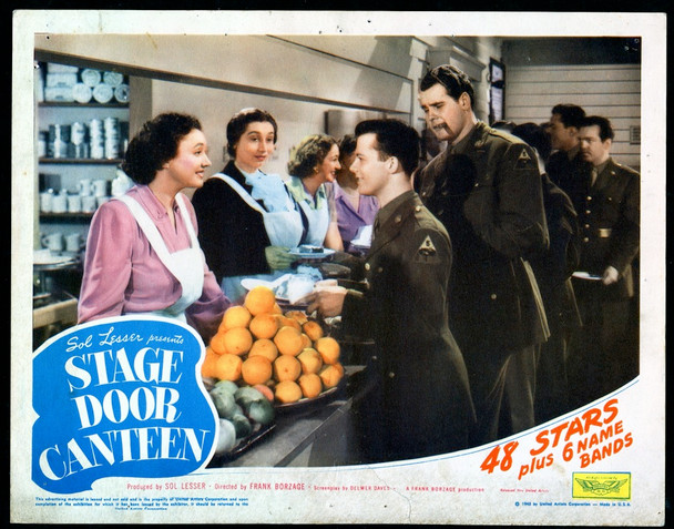 STAGE DOOR CANTEEN (1943) 29079  Lynn Fontaine Lobby Card Original U.S. Scene Lobby Card (11x14)  Average Used Condition