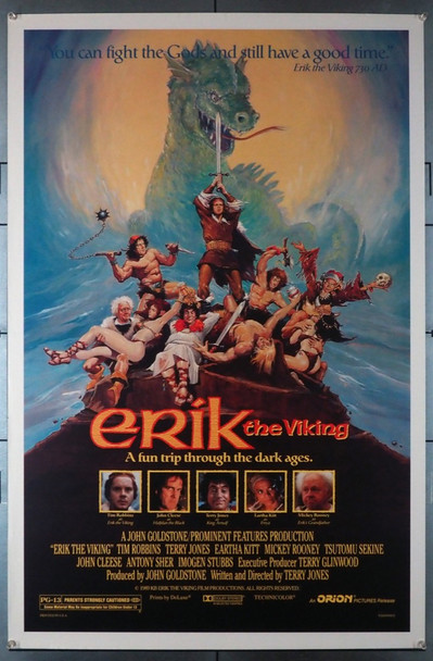 ERIK THE VIKING (1989) 3451   Original Movie Poster	 Original U.S. One-Sheet Poster (27x41) Rolled  Fine Plus to Very Fine Condition