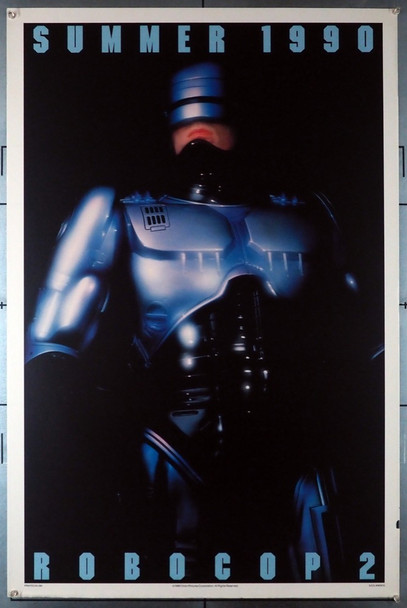 ROBOCOP 2 (1990) 1798 Original U.S. Teaser or Advance One-Sheet Poster (27x41)  Rolled  Fine Plus to Very Fine