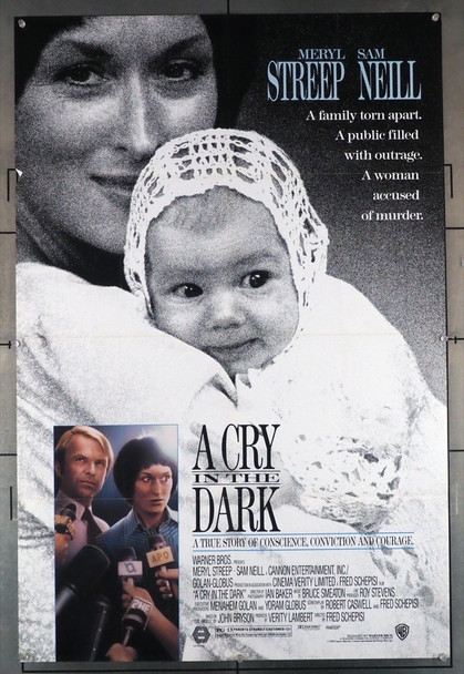 EVIL ANGELS (1988) 1653 [A CRY IN THE DARK] Movie Poster Original U.S. One-Sheet Poster (27x41) Folded  Fine Plus Condition