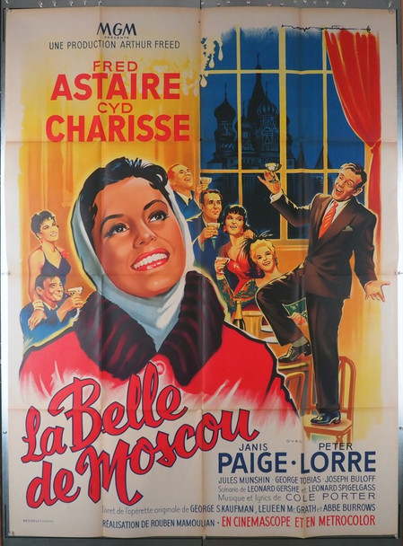 SILK STOCKINGS (1957) 23855   Cyd Charisse   Fred Astaire  Movie Poster  Art by Roger Soubie Original French Grande Poster  (47x63)  Folded  Fine Plus Condition