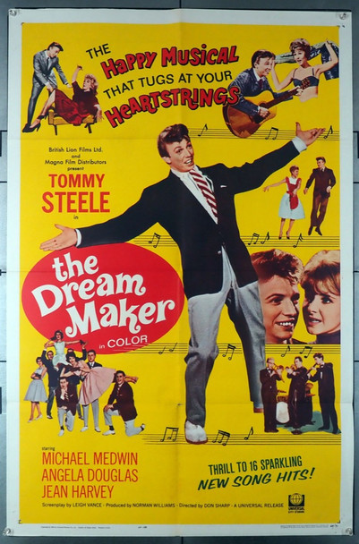 DREAM MAKER, THE (1964) 11126   Tommy Steele Movie Poster Original One-Sheet Poster (27x41) Folded  Fine Plus Condition