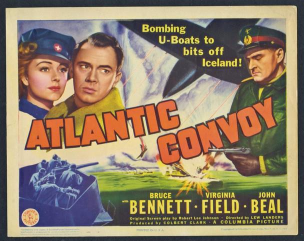 ATLANTIC CONVOY (1942) 8948 Original U.S. Title Card (11x14) Very Good Plus to Fine Condition