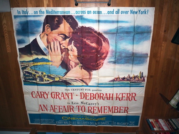 AFFAIR TO REMEMBER, AN (1957) 8044  Cary Grant  Deborah Kerr  Leo McCarey  Movie Poster Original U.S. Six-Sheet Poster (81x81)  Folded  Theater-Used Average Condition  Graded as Good