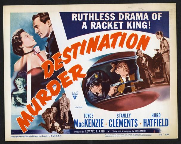 DESTINATION MURDER (1950) 8953   Joyce MacKenzie   Hurd Hatfield   Stanley Clements  Movie Poster Original U.S. Title Lobby Card (11x14)  Fine Plus Condition