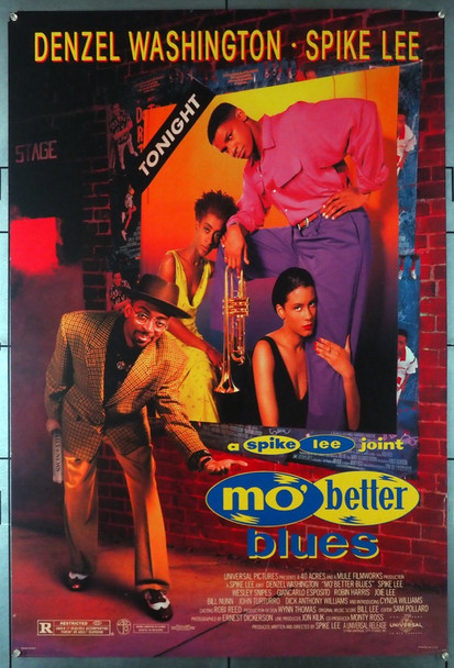 MO' BETTER BLUES (1990) 3829   Spike Lee Movie Poster Original U.S. One-Sheet Poster (27x41) Rolled  Fine Plus Condition