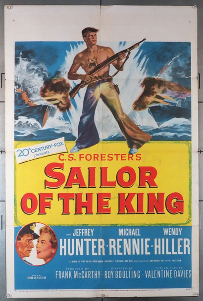 SAILOR OF THE KING (1953) 11435    Jeffrey Hunter Movie Poster Original U.S. One-Sheet Poster (27x41) Folded  Very Good Condition