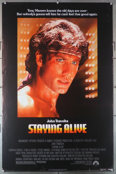 STAYING ALIVE (1983) 576   John Travolta Movie Poster Original U.S. One-Sheet Poster (1983)  Single Sided   27x40  Average Used Condition  Rolled