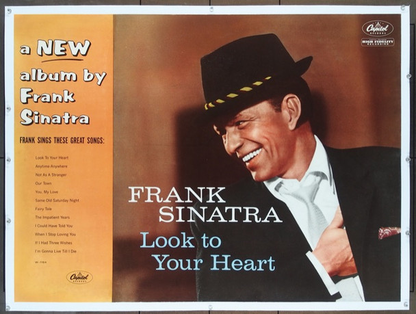 FRANK SINATRA (1959) 24958   Capitol Records Poster  Linen-Backed Frank Sinatra Capitol Records Promotional Poster (29x39)  Linen-Backed  Fine Plus Condition