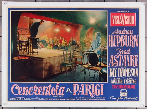 FUNNY FACE (1957) 7967  Audrey Hepburn Movie Poster Original Paramount Pictures Italian PhotoBusta (27x19) Linen Backed  Fine Plus Condition