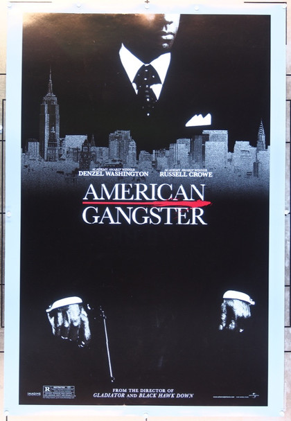 AMERICAN GANGSTER (2007) 20698  Denzel Washington Movie Poster Original U.S. Advance Style One-Sheet Poster  (27x40)  Double Sided  Very Fine Condition