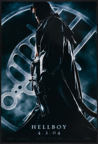 HELLBOY (2004) 20664   Guillermo Del Toro Movie Poster Columbia Pictures Original U.S. One-Sheet Poster  (27x40)  Double-Sided  Very Fine