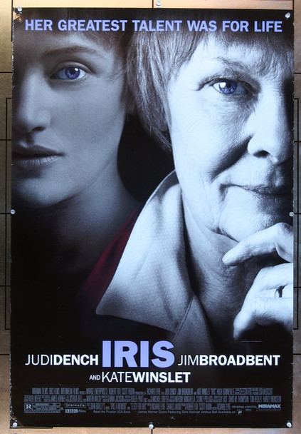 IRIS (2001) 20667   Judi Dench   Kate Winslett Movie Poster Original U.S. One-Sheet Poster (27x40)  Double Sided  Good Condition Only