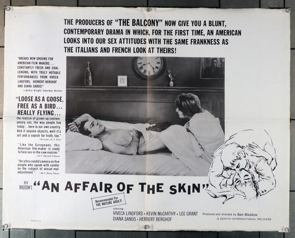 AFFAIR OF THE SKIN, AN (1963) 11006 Original U.S. Half Sheet Poster (22x28)  Folded on normal paper stock