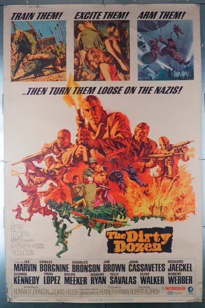 DIRTY DOZEN, THE (1967) 29095    Lee Marvin  Robert Aldrich  Movie Poster Original U.S. 40x60 Movie Poster  Fair to Good Condition Only
