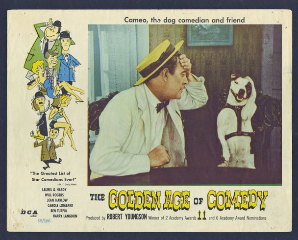 GOLDEN AGE OF COMEDY, THE (1957) 4439 Original U.S. Scene Lobby Card (11x14) Average Used Condition
