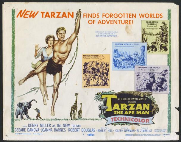 TARZAN, THE APE MAN (1959) 4433 Original U.S. Title Lobby Card (11x14)  Average Used Condition