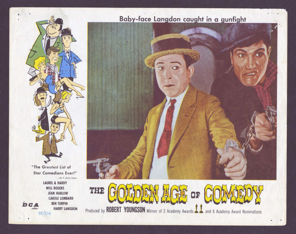 GOLDEN AGE OF COMEDY, THE (1957) 4415   Harry Langdon Movie Poster Original U.S. Scene Lobby Card (11x14) Average Used Condition