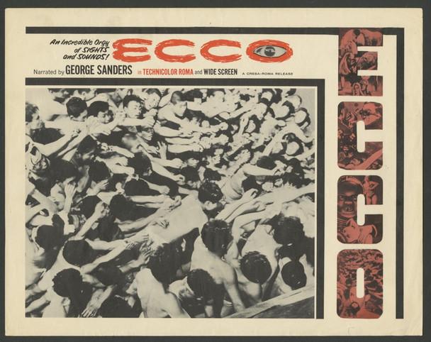 MONDO DI NOTTE NUMERO 3, IL (1963) 4414 Original U.S. Scene Lobby Card (11x14)  Three individual cards