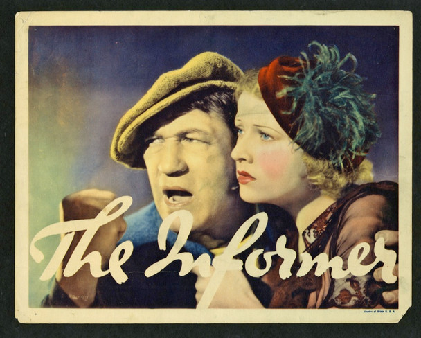 INFORMER, THE (1935) 7363   Victor McLaglen   Heather Angel  Movie Poster Original U.S. Portrait Lobby Card (11x14) Very Good Plus Condition  Theater-Used