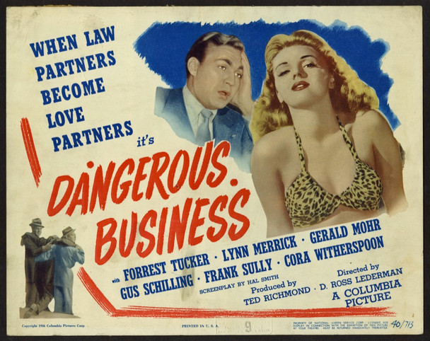 DANGEROUS BUSINESS (1946) 8890    Forrest Tucker   Lynn Merrick   Movie Poster Original U.S. Title Lobby Card (11x14)  Very Good Plus to Fine Condition