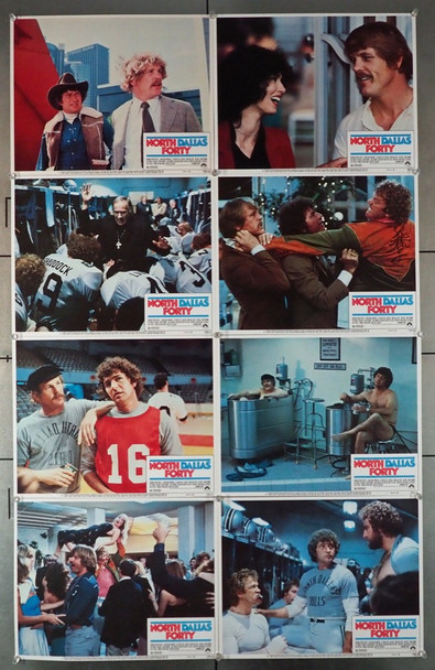 NORTH DALLAS FORTY (1979) 4406   Full Lobby Card Set Original U.S. Lobby Card Set   Eight Individual Cards   Very Fine Condition