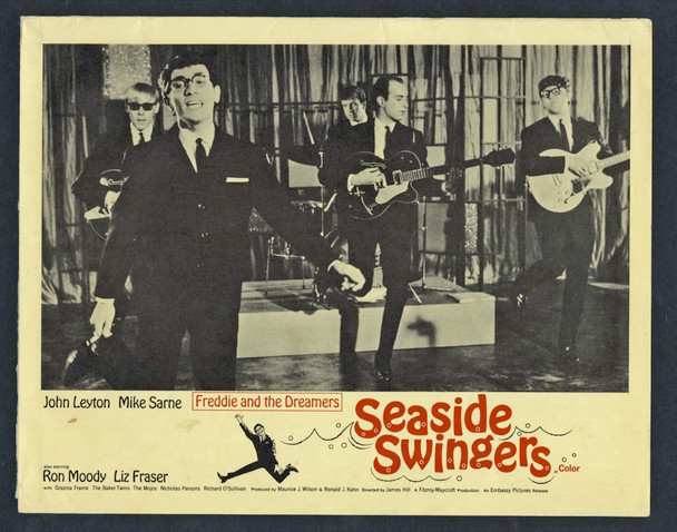 EVERY DAY'S A HOLIDAY (1965) 4365  Freddie and the Dreamers (SEASIDE SWINGERS) Original U.S. Scene Lobby Cards (11x14)  Four Individual Scene Cards  Very Good Condition
