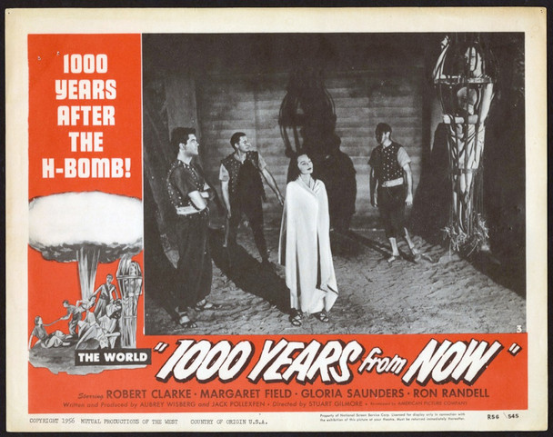 CAPTIVE WOMEN (1952) 4402   Re-release lobby card  1000 YEARS FROM NOW Original U.S. Scene Lobby Card  Re-release of 1954