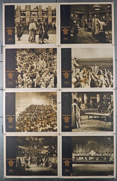 GREATEST STORY EVER TOLD, THE (1965) 8421   Max Von Sydow   George Stevens  Lobby Card Set Original U.S. Lobby Card Set  Eight Individual Cards   Average Used Condition