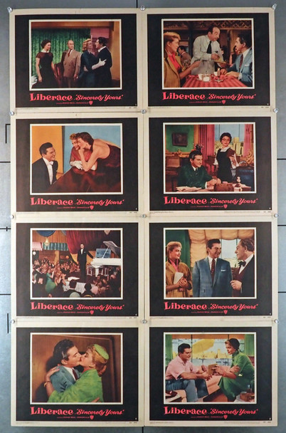 SINCERELY YOURS (1955) 4429   Liberace Original Movie Poster  Lobby Card Set Original Set of 11x14 Warner Bros Lobby Cards  Very Fine Condition