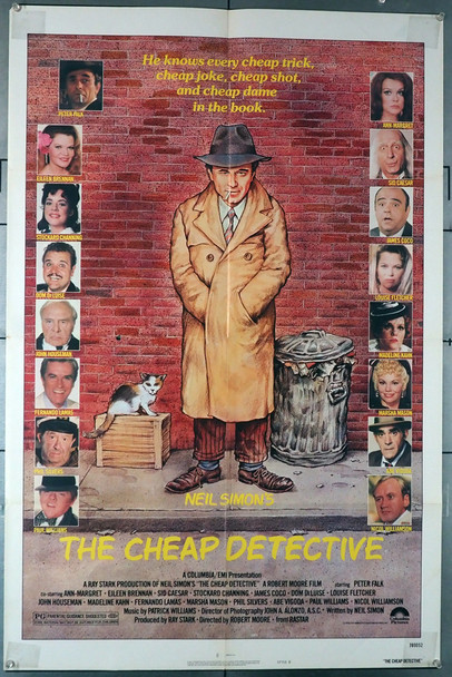 CHEAP DETECTIVE, THE (1978) 4057  Peter Falk art by Robert Tannenbaum Original U.S. One-Sheet Poster (27x41) Folded  Theater-Used  Average Condition