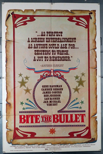 BITE THE BULLET (1975) 4056   Advance Poster  27x41  Folded   Original U.S. Advance One-sheet Poster (27x41)  Folded  Very Good Condition