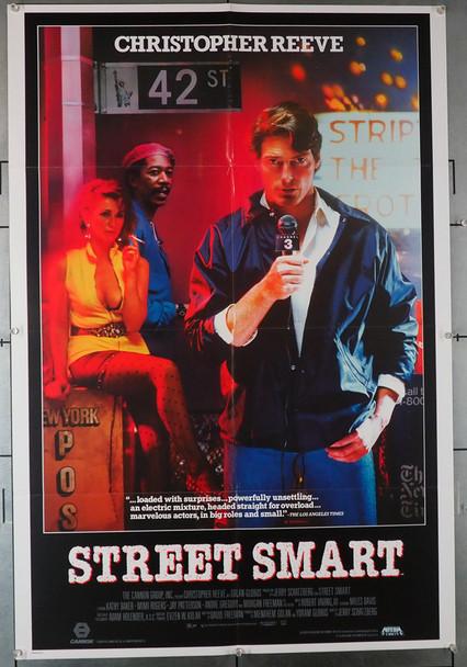STREET SMART (1987) 4064   Christopher Reeve   Morgan Freeman  Movie Poster Original U.S. One-Sheet Poster (27x41)  Folded  Fine Plus Condition