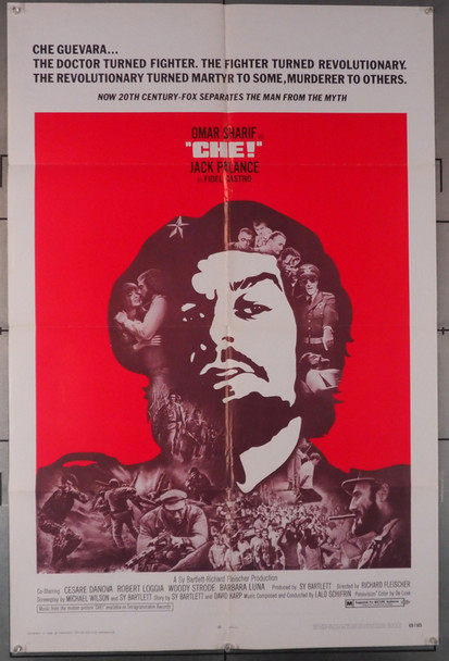 CHE! (1969) 4065   Omar Sharif as Che Guevara  Movie Poster Original U.S. One-Sheet Poster (27x41) Folded  Very Good Plus Average Used Condition