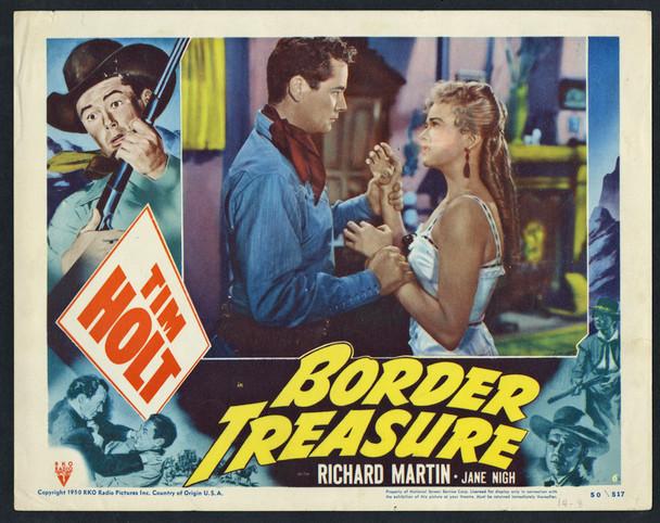 BORDER TREASURE (1950) 9339  Tim Holt  Jane Nigh  Lobby Card Original U.S. Scene Lobby Card (11x14)  Fine Plus Condition