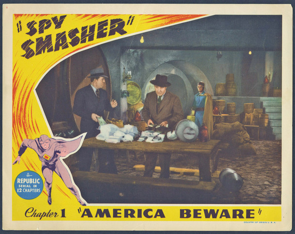 SPY SMASHER (1942) 9343  Original Chapter One Lobby Card  11x14 Republic Pictures Original U.S. Scene Lobby Card   Chapter One Serial Card