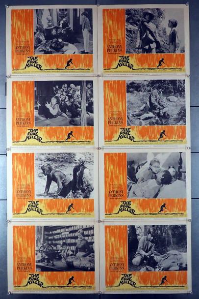 FOOL KILLER, THE (1965) 8387   Anthony Perkins Lobby Cards  Eight Cards Original U.S. Lobby Card Set   Eight 11x14 Cards  Very Good Plus to Fine