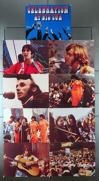CELEBRATION AT BIG SUR (1971) 2640  Complete Lobby Card Set   Folk and Singer-Songwriters Original U.S. Lobby Card Set   Nine 11x14 Cards