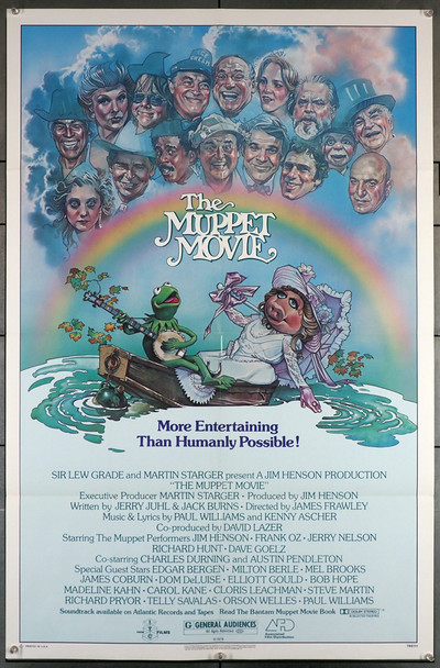 MUPPET MOVIE, THE (1979) 29117   Jim Henson Movie Poster Original One-Sheet Poster (27x41)  Folded  Very Fine Condition