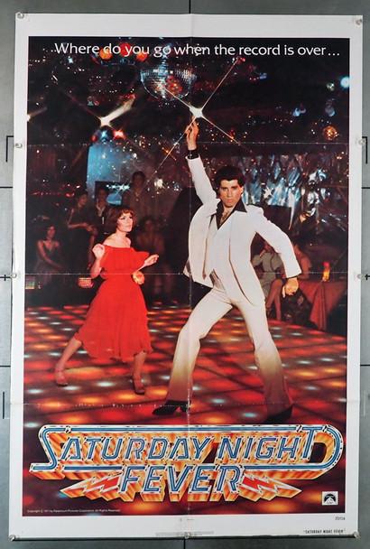 SATURDAY NIGHT FEVER (1977) 15870   John Travolta Movie Poster Original U.S. One-Sheet Poster   Teaser or Advance Style  Fine Condition