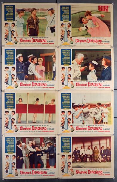 SERGEANT DEAD HEAD (1965) 8385   Frankie Avalon Lobby Cards   Buster Keaton   Original U.S. Lobby Card Set  Very Fine Condition   Eight Individual Cards