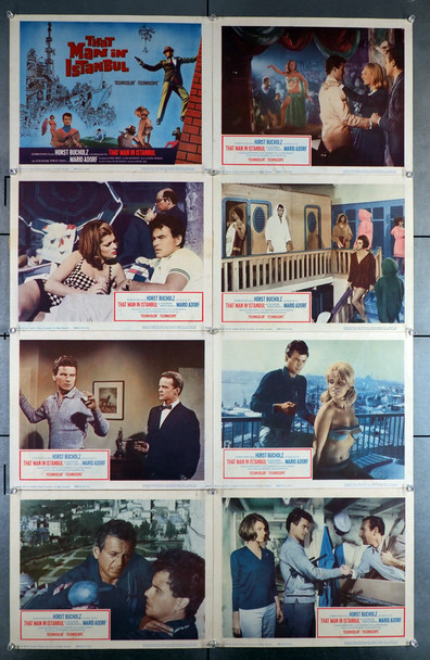 THAT MAN IN ISTANBUL (1966) 8399   Horst Bucholz Set of U.S. Lobby Cards Original U.S. Lobby Card Set   Eight Individual Cards   11x14  Very Fine Condition