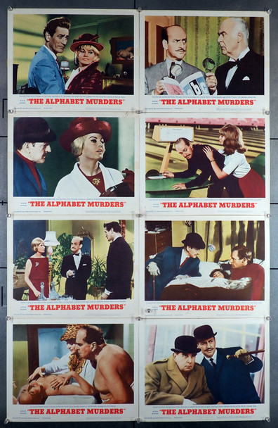 ALPHABET MURDERS, THE (1966) 8422  Tony Randall   Anita Ekberg  Lobby Cards Original U.S. Lobby Card Set   Eight 11x14 Cards   Fine Plus Condition