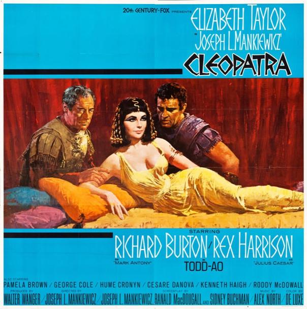 CLEOPATRA (1963) 25499   Elizabeth Taylor  Richard Burton  Rex Harrison  Art by Howard Terpning Original U.S. Roadshow Six Sheet Poster  (81x81)  Folded  Very Fine Condition