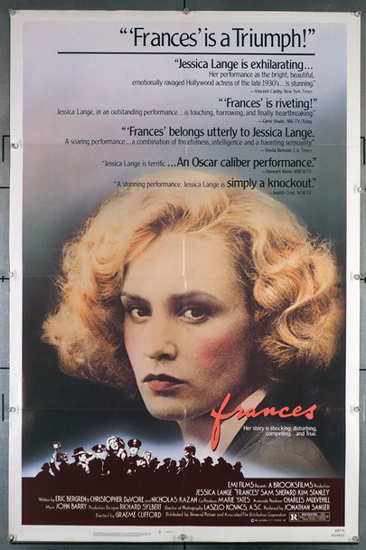 FRANCES (1982) 29166 Original U.S. One-Sheet Poster (27x41) Folded  Very Good Plus Condition