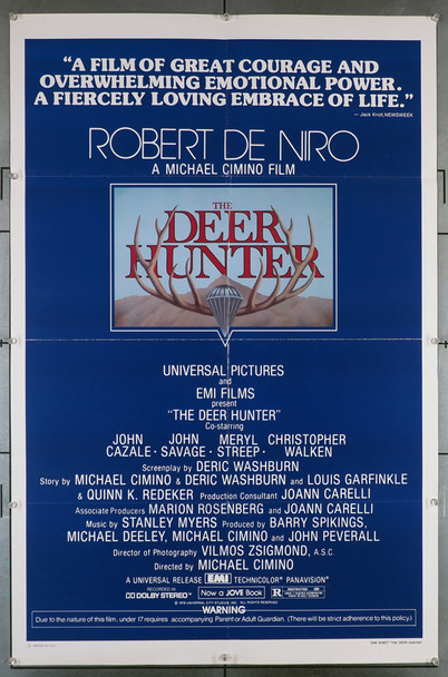 DEER HUNTER, THE (1978) 29180 Original U.S. One-Sheet Poster (27x41) Folded  Very Fine Condition