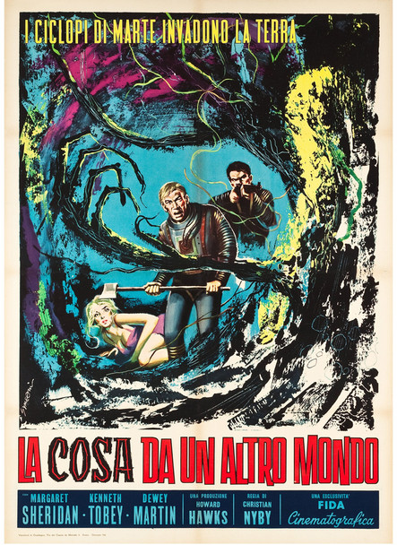 THING FROM ANOTHER WORLD, THE (1951) 24021  Howard Hawks Movie Poster Original Italian 39x55 Movie Poster   Linen-Backed   Very Fine Condition